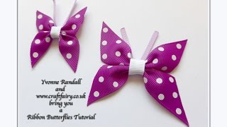 Download How to make a ribbon butterfly Video