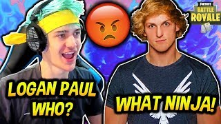 Download NINJA ROASTS LOGAN PAUL LIVE ON STREAM! *EXPOSED!* Fortnite SAVAGE & FUNNY Moments Video