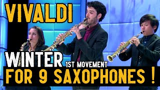Download Vivaldi for 9 Saxophones (Winter / Four Seasons) Video