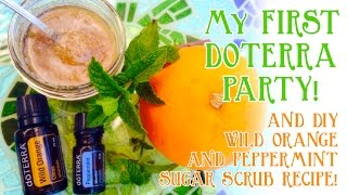 Download doTERRA Essential Oil Party | DIY Orange n Peppermint Sugar Scrub Recipe Video