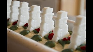 Download PEPPERMINT SNOWMEN~Making Cold Process Soap using Embeds Video