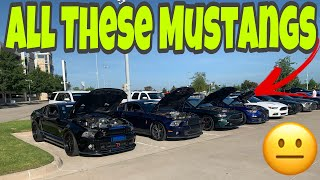 Download These Ford Mustangs Took Over This Car Meet!!!! Video