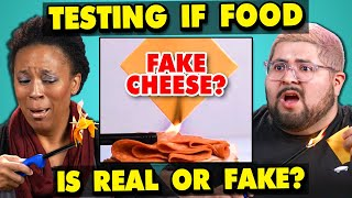 Download Adults React To Testing If My Food Is REAL Or FAKE Video