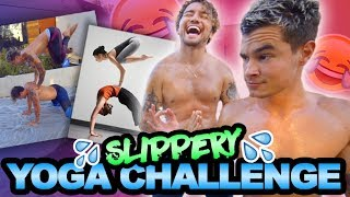 Download WET AND WILD YOGA CHALLENGE (COVERED IN BABY OIL) Video
