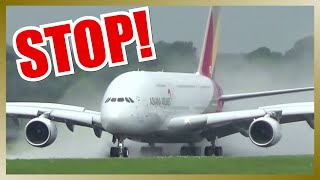 Download Amazing Rejected Takeoff of ASIANA AIRLINES A380 Video