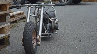 Download homemade mini bike chopper bobber part 5 sissy bar building Video