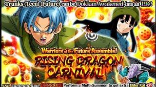 Download NEVER HAD LR LUCK LIKE THIS BEFORE!!! New LR Trunks & Mai Rising Dragon Carnival: DBZ Dokkan Battle Video