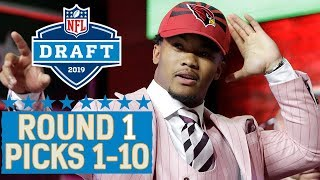 Download Picks 1-10: Multiple QBs, a Top 10 Trade & More! | 2019 NFL Draft Video