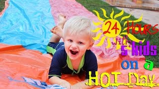 Download 24 Hours With 5 Kids on a Hot Day Video