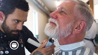 Download Founder of Beardbrand gets his Dad the Ultimate Barber Experience Video