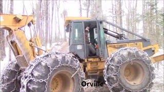Download logging with grapple skidder, feller buncher & slasher Video