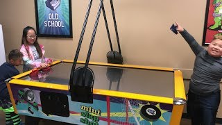 Download Air Hockey Battle | ACE vs TIARA AND TITUS | TigerFamilyLife~ Video
