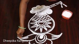 Download Krishna jayanti special rangoli / Pandaga muggulu // gokulashtami special Krishna| जन्माष्टमी रंगोली Video