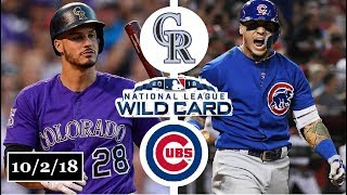 Download Colorado Rockies vs Chicago Cubs Highlights || NL Wild Card Game || October 2, 2018 Video