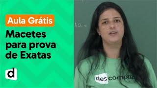 Download AO VIVO | MACETES PARA A PROVA DE EXATAS DO ENEM | DESCOMPLICA Video