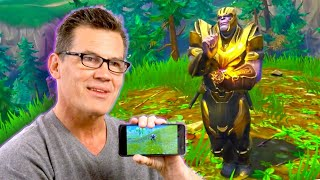 Download Josh Brolin Reacts to Thanos Fortnite Gameplay Video