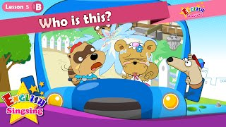 Download Lesson 5 (B)Who is this? Who - Introducing - Cartoon Story - English Education - for kids Video