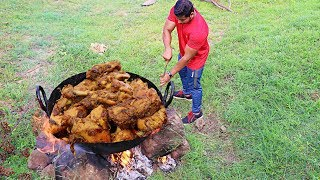 Download CHICKEN DRY FRY AT A FOREST SITE | BEST CHICKEN DISHES IN THE JUNGLE Video