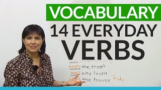 Download English Vocabulary: Verbs for things you do every day! Video