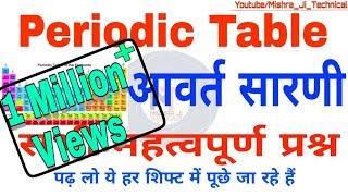 Download आवर्त सारणी || 50 महत्वपूर्ण प्रश्न || Periodic Table in hindi||Periodic table, Railway Crash course Video