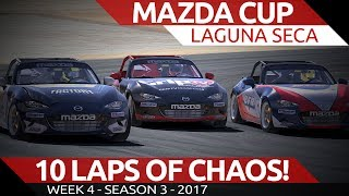Download Complete Chaos for 10 laps Mazda Cup @ Laguna Seca iRacing Video
