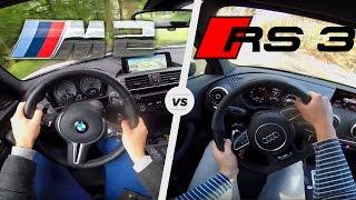 Download BMW M2 vs Audi RS3 | Acceleration Sound Exhaust POV Test Drive Launch Control Video