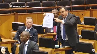 Download Cyril Ramaphosa Threaten The DA MP With Jail Video