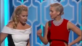 Download Jennifer Lawrence and Amy Schumer Hilarious at the Golden Globes 2016 Video