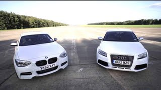 Download BMW M135i v Audi RS3: Road, Track, Drag-race. - /CHRIS HARRIS ON CARS Video