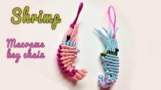 Download How to make a 3D Shrimp macrame key chain -Easy macrame animal tutorial - hướng dẫn thắt con tôm 🍤 Video
