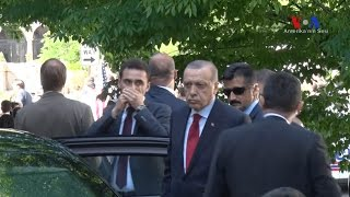 Download Turkish President Erdogan at the Turkish Embassy in Washington watching Tuesday's violent clash Video