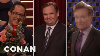 Download Conan & Andy Try To Woo Angelina Jolie - CONAN on TBS Video