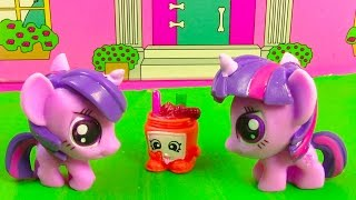 Download MLP Double Twilight Sparkle My Little Pony Shopkins Peanut Butter Playing House Snack Food Fun Video