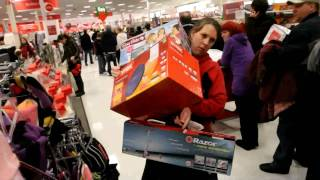 Download Shoppers go crazy on Black Friday Video