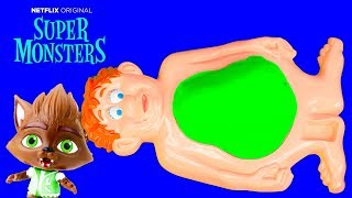 Download Super Monsters Turn into Real Monsters in Mr Man's Tummy with the Assistant Video