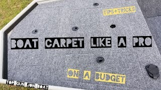 Download DIY Jon Boat INTERIOR BOAT CARPET On A Budget Video