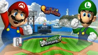 Download Mario Super Sluggers - Exhibition Mode - Mario Stadium Video