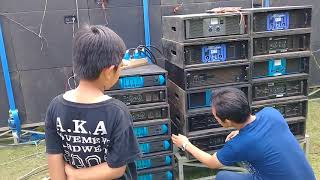 test perangkat audio sound system equaliser power amplifier lapangan