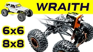 Download Converting Axial Wraith axle to 6x6 / 8x8 Video