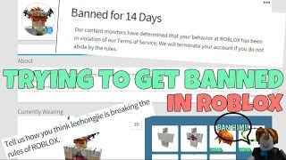 Download TRYING TO GET BANNED IN ROBLOX?! Video