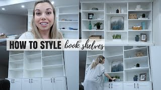Download STYLE MY BOOKSHELVES WITH ME | HOW TO PLACE DECOR ON SHELVES | Nesting Story Video