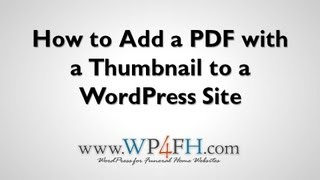 Download How To Embed a PDF with a Thumbnail into WordPress Video