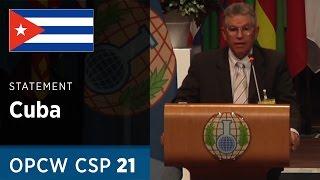 Download Cuba Statement by Mr Jesus Cuevilas Dominguez at CSP21 Video