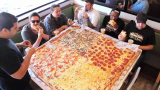 Download Competitive Eaters Versus Wreckless Eaters in Big Mama's & Papa's Pizzeria's 54″ Pizza Challenge! Video