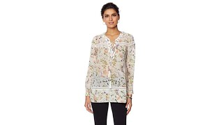 Download LaBellum by Hillary Scott Printed Laceup Peasant Top Video