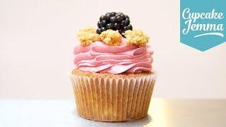 Download Apple & Blackberry Crumble Cupcake Recipe | Cupcake Jemma Video