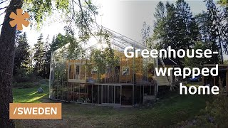 Download Family wraps home in greenhouse to warm up Stockholm weather Video