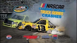 Download 2017 NASCAR Camping World Truck Series Crashes (Atlanta- Charlotte) Video
