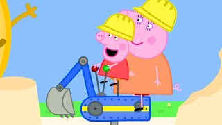 Download Peppa Pig Episodes 🔴Peppa Pig Plays at Digger World | Mandy Mouse | Peppa Pig Video