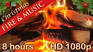 Download ☆ 8 HOURS ☆ CHRISTMAS MUSIC with FIREPLACE ♫ Christmas Music Instrumental ☆ LONG playlist ☆ YULE LOG Video